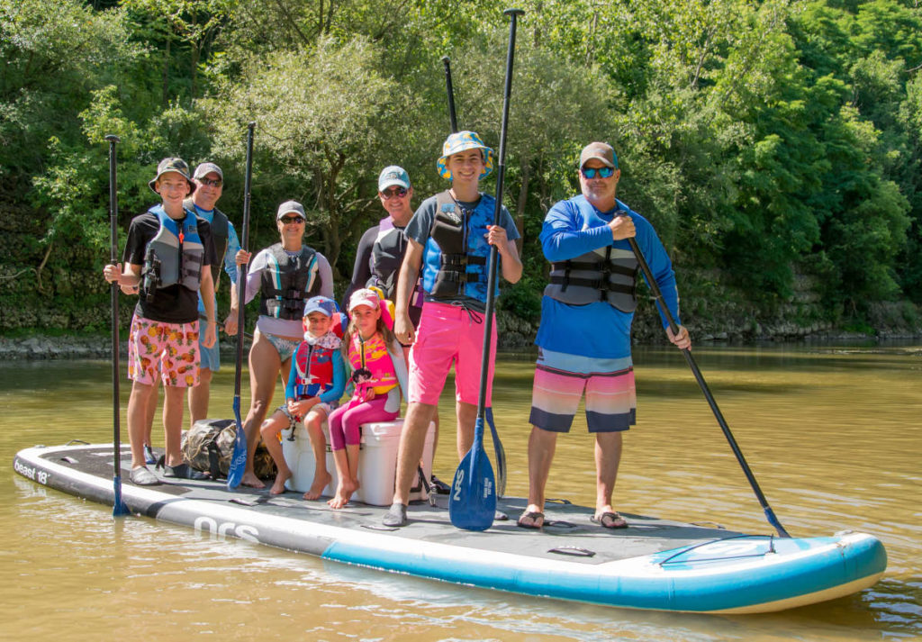 Stand Up Paddleboard Trip the Beast on the Grand River