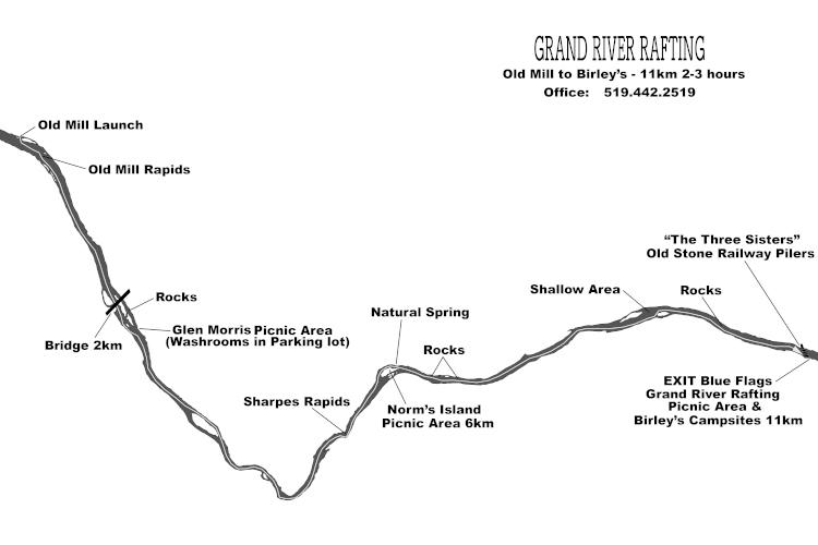 Cambridge to Paris Grand River Map Part B