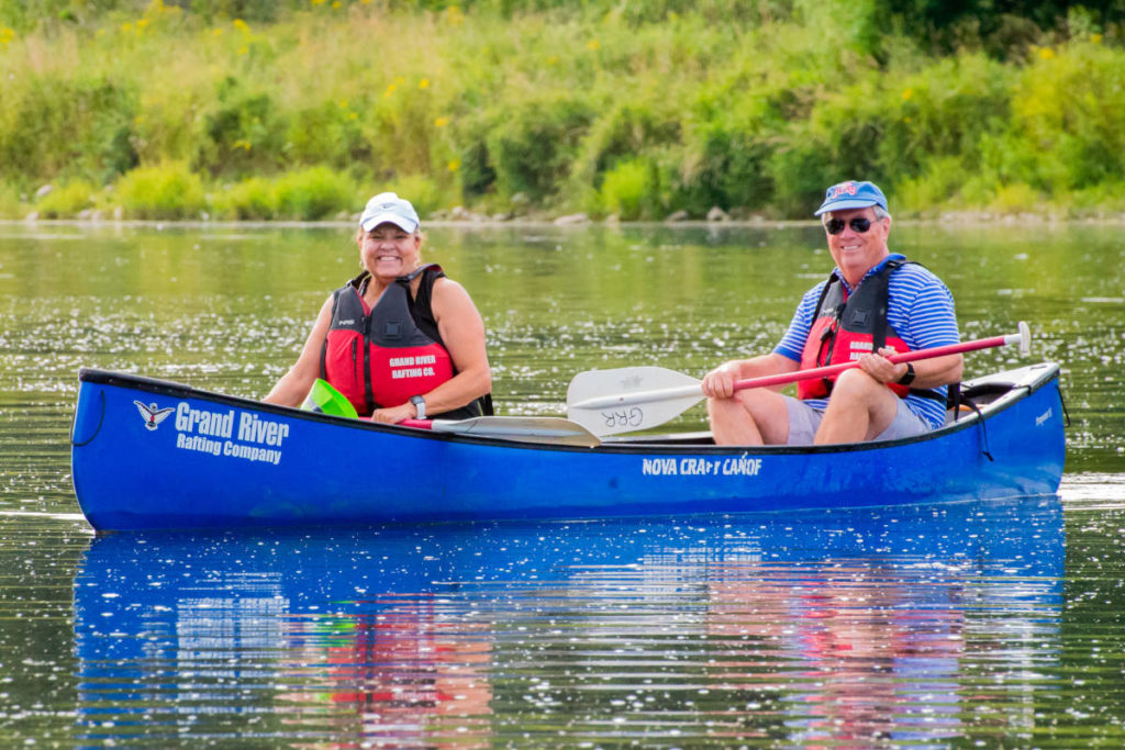 Canoe trips and rentals with Grand River Rafting Company.