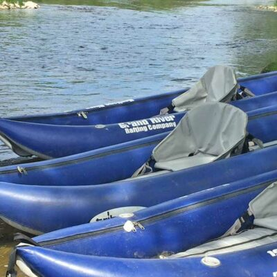 Grand River Rafting Non-tip 2 man yaks ready to be launched on the Grand River