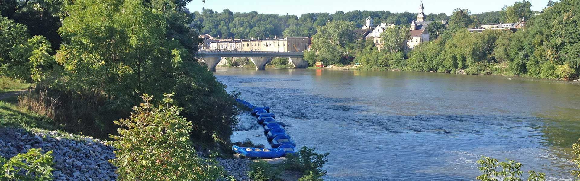 Grand River Rafts at Paris dam