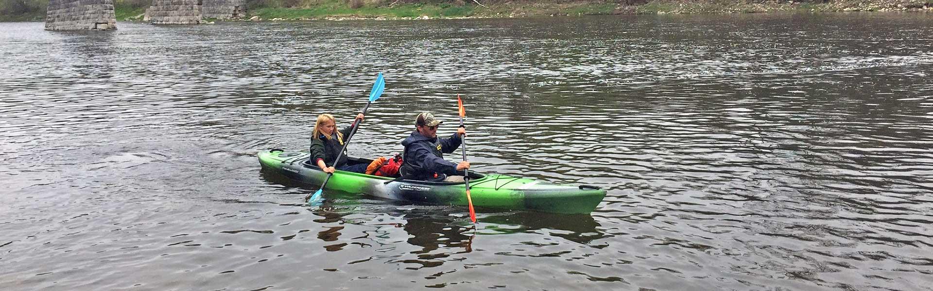 Grand River Tandem Kayak Trip at the Three Sisters