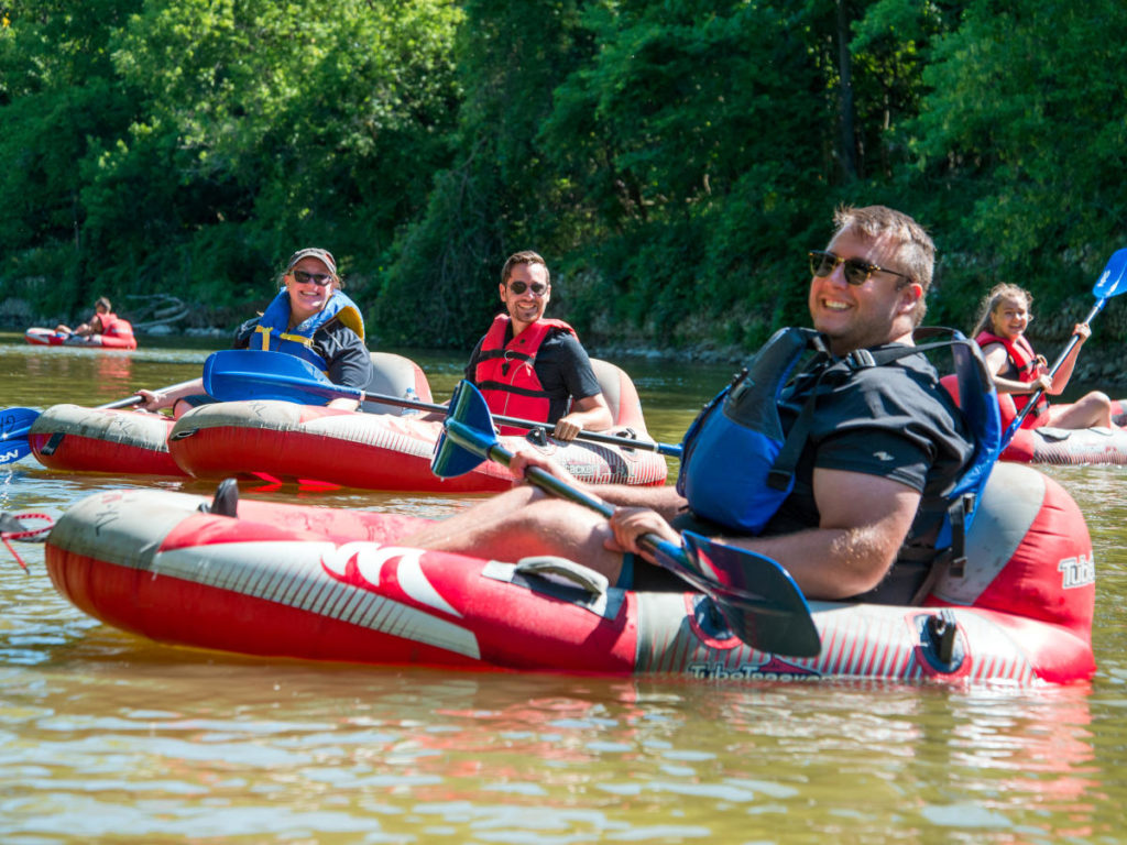 Turbo Tubing on the Grand River Near Paris Ontario
