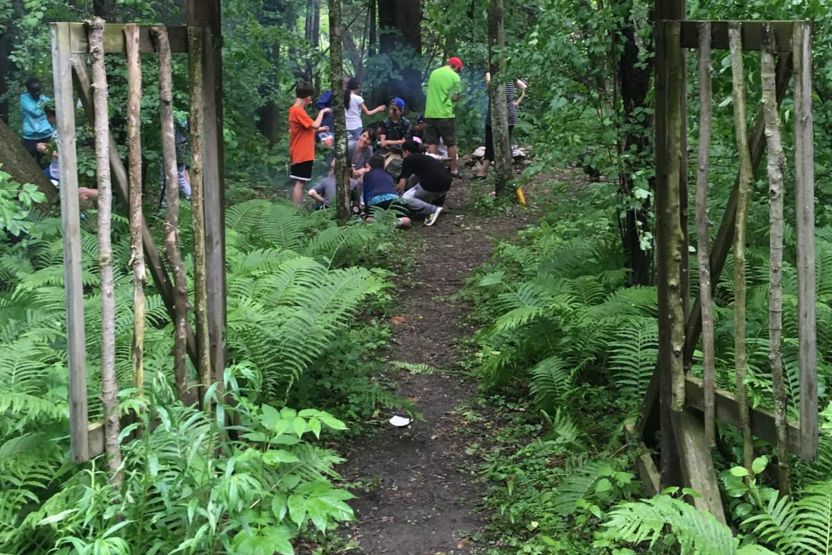 Outdoor Forest School program for children with Growe