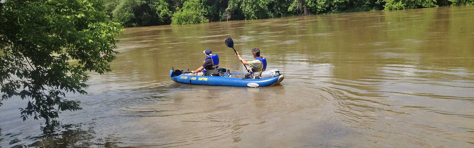 Learn to Kayak on the Grand River in non tip kayaks