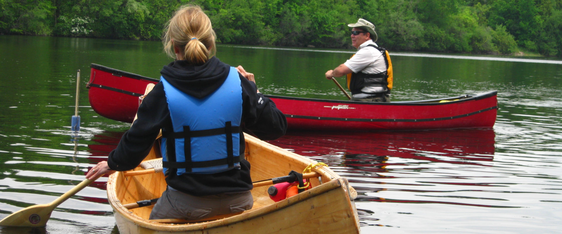 ORCKA canoe certification lessons on Grand River in Ontario