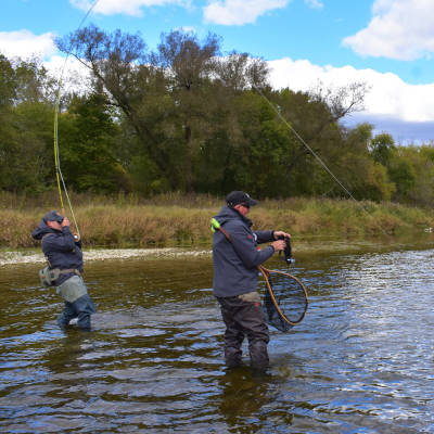 Fly Fishing lessons on the Grand River in Ontario