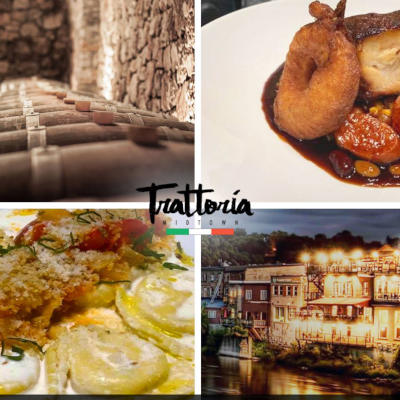 Restaurants in Paris Ontario on the Grand River the italian Trattoria restaurant
