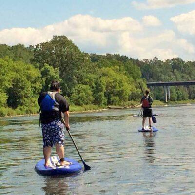 SUP Rentals on the Grand River near Paris Ontario