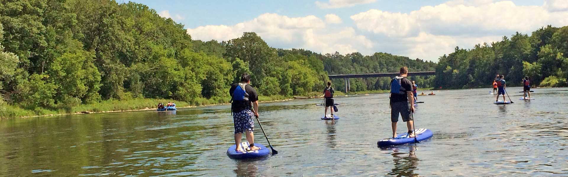 SUP Rentals on the Grand River near Paris Ontario