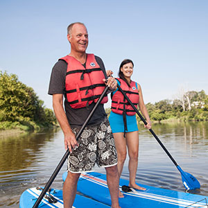 Stand up paddle board rentals on the grand river in ontario