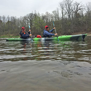 Tandom Kayak Rentals on the Grand River