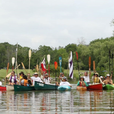 Two Row on the Grand with Grand River Rafting canoe and kayak rentals