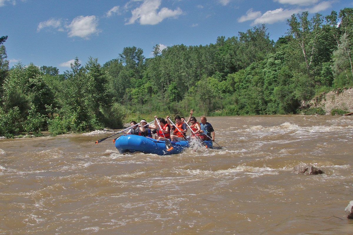 Whitewater rafting in ontario near Paris ontario