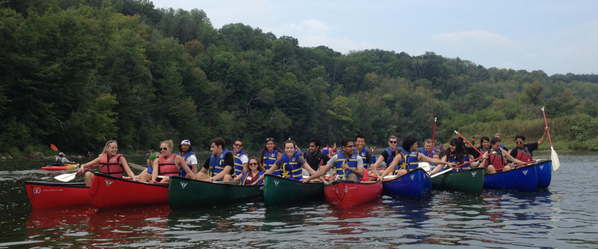 Grand River Corporate paddling experiences near Toronto, Waterloo and London Ontario