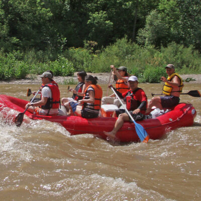 Rafting on the Nith River