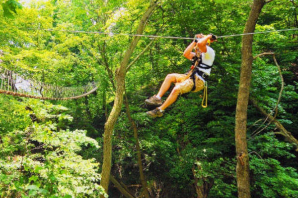 Zipline with Long Point Eco Adventures and Grand River Rafting