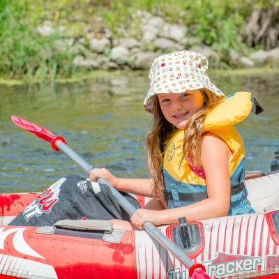 Tubing on the grand river for children