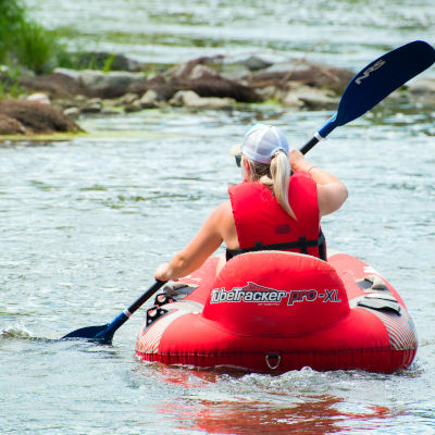Tubing on the Grand River for women