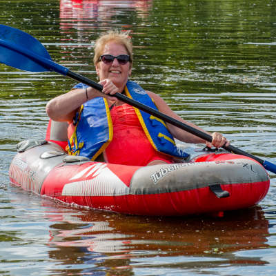 Tubing on the grand river for seniors
